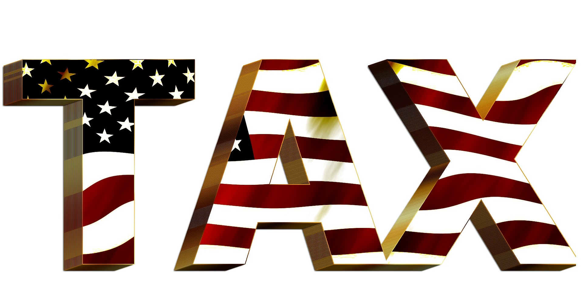 The word tax with the United States Flag image on the words on the Pro Tax & Accounting Business Tax Planning & Preparation page