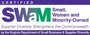 SWaM logo for Small, Women-owned, and Minority-owned Business